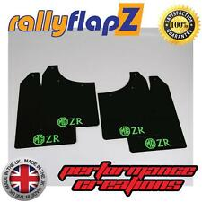 Rally Mudflaps MG ZR Rover Mud Flaps rallyflapZ x 4 Black Logo L-Green 3mm PVC