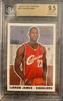 2003-04 Fleer Tradition #261 Lebron James Rookie Card RC BGS 9.5 GEM MINT