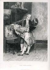 «The connoisseur» gravure par L. Richeton sobre travaux de G. Boldini