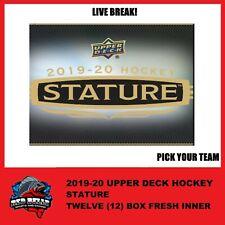 2019-20 Upper Deck STATURE Hockey Hobby 12 Box (INNER CASE) PYT - Live Break