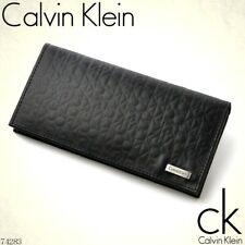 Calvin Klein Men's Embossed Leather Long Folio RFID CK Logo Wallet w/Gift Box