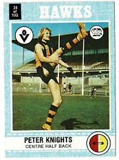 1977 Scanlens No 25 Peter Knights Hawthorn card ++++