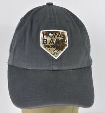Navy Blue Home Base Program Logo Embroidered Baseball Hat Cap Adjustable Strap