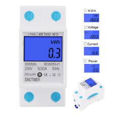5-32A 230V 50Hz Digital Rail Single Phase Power Watt Electronic Energy Meter
