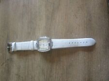 Guess Watch  White Leather Band