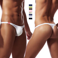 Men's Sexy Underwear T-Back G-String Briefs Breathable Tangas Thong Lingerie WEB