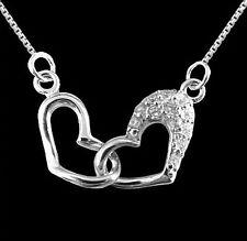 Anhänger Herz mit Zirkonia 925 Silber mit Venezianerkette 42 cm massiv Silber