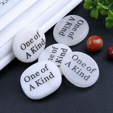 1pc Engraved Inspired Word Natural Tumbled Stones Rocks Crystal Healing Reiki
