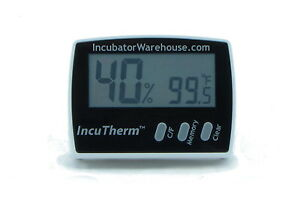 IncuTherm™   Digital Egg Incubator Thermometer & Hygrometer (Measures Humidity)