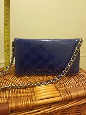 Bebe wallet/ Clutch with chain, dark blue