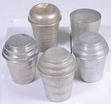 Lot of (5) Vintage ADVERTISING Aluminum Lidded Drinking Cups 3 - MARATHON DEALER