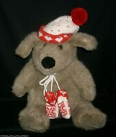 "16"" VINTAGE CHRISTMAS TARGET BABY KRIS MUTT DOG STUFFED ANIMAL PLUSH TOY BEAR"