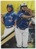 2019 TOPPS GOLD LABEL VLADIMIR GUERRERO JR GOLD ROOKIE CARD #'D 1/1 NON AUTO RC