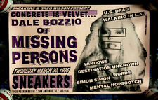 1995 DALE BOZZIO MISSING PERSONS LIVE IN TEXAS CONCERT POSTER FRANK ZAPPA TERRY