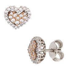 Diamant Echtschmuck im Ohrstecker-Stil mit Herz-Schliffform