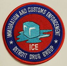 DHS ICE Immigration & Customs Enforcement Detroit Drug Group Cloth Patch
