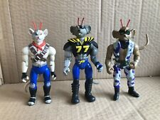 Biker Mice From Mars Action Figures Bundle Throttle Vinnie Modo Lot