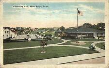 Baton Rouge LA Community Club c1920 Postcard