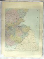 Original Old Antique Print Ref.608 Stanford Map C1870 South East Scotland Forth
