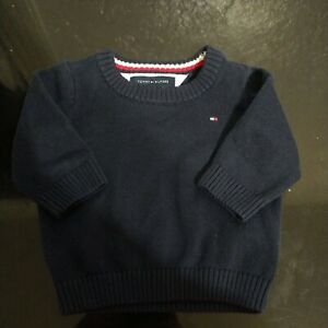 Baby boy 3/6 Mos Tommy Hilfiger Sweater Navy Blue