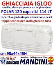 GHIACCIAIA IGLOO MARINE MODELLO POLAR 120 CONTENITORE TERMICO FRIGO - 114 LT.