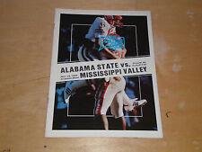 1985 MISSISSIPPI VALLEY AT ALABAMA STATE CRAMTON BOWL COLLEGE FOOTBALL PROGRAM