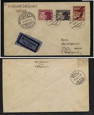 Austria  C17,C19,C29  Zeppelin cover  1931  buy some history       AP0726