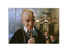 TOM FELTON DRACO MALFOY HARRY POTTER PP MOUNTED 8X10 SIGNED AUTOGRAPH PHOTO