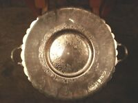"""Vintage Silver Plate Tray Breadner BM CO Valence #2002 10.5"""" Good Condition"""