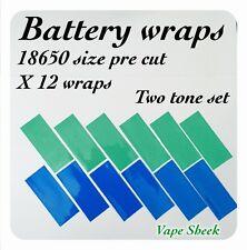 Envolturas de Batería X 12 Pcs 18650 2 Tonos Set Termocontraíble Pvc Mangas 72*30*0.08mm