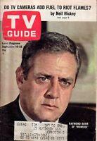 1967 TV Guide September 16 Raymond Burr - Ironside; Ethel Merman; Ivan Dixon