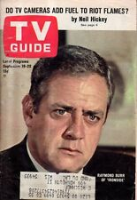 1967 TV Guide September 16 Raymond Burr - Ironside; Ethel Merman; Ivan Dixon