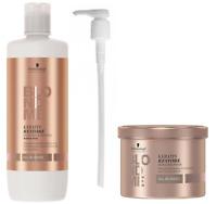 Schwarzkopf Keratin Restore Bonding All Blonde Shampoo,33.8oz/ Masque,16.9oz