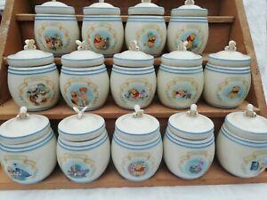 Vintage Winnie The Pooh & Friends Lenox Spice Jars The Pooh Pantry Porcelain