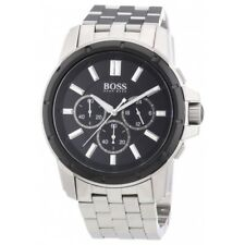 Hugo Boss Black Dial Stainless Steel Chronograph Quartz Men's Watch 1512928
