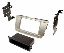 Single or Double Din Dash Kit For Stereo Radio Install Installation Silver