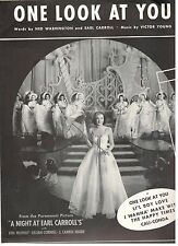 """""""ONE LOOK AT YOU"""" PIANO/VOCAL/GUITAR W/CHORDS SHEET MUSIC-1940-RARE-NEW ON SALE!"""