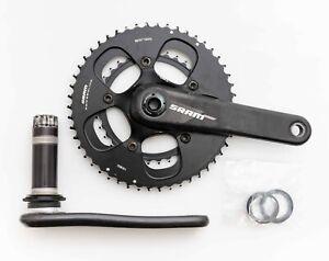 SRAM 2 x 10 Spd Carbon Road Bike Crankset 172.5mm 50/34T 110 BCD BB30 Compact CX