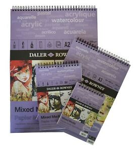 Daler Rowney Mixed Media Pads - Spiral A5 or A4