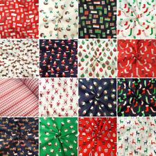 Polycotton Fabric Merry Christmas Xmas Collection Festive
