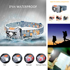 LED Head Torch Headlamp Headlight Camping Fishing Running Waterproof Durable UK