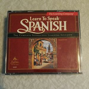 The Learning Company Learn to Speak Spanish 8.0 Four CD Set