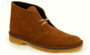 The Classic Clarks the Desert Boat Cola Suede2 00111767A (4D)