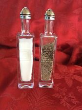 2 Pairs SQUARE ONE Vodka Mini Liquor 50ml Bottles Upcycled SALT & PEPPER Shakers