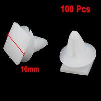100 Pcs Universal Plastic Rivet Car Door Trim Retainer Fastener Clips White