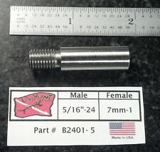 "Adapter 5/16""-24 Male by  7mm-1 Female, Speargun, Tip, Pole Spear Stainless"