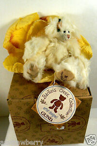 """Bartons Creek Collection Gund jointed bear Pia with flower Toy Plush 6"""""""