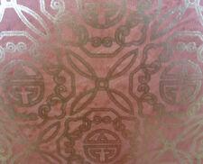 Gold Foil Wallpaper Burnt Orange Oriental Scroll Wallquest AA1861 Double Roll