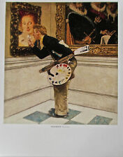 Norman Rockwell Poster The Art Critic 14x11 Offset Lithograph Unsigned