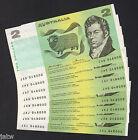 Australia R-86c. (1976) Knight/Wheeler - Two Dollars.Near Consec Prefix Run of 8